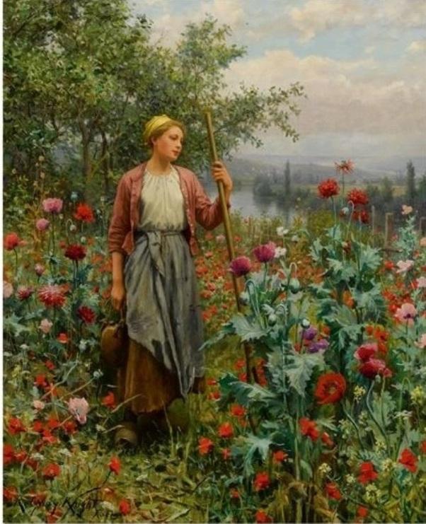 Маки. Холст, масло. Дэниел Риджуэй Найт (1839-1924), американский художник