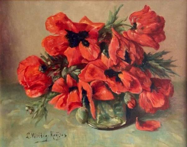 Маки. Холст, масло. Люси Кейсер (1875-1958), голландский художник. Частная коллекция