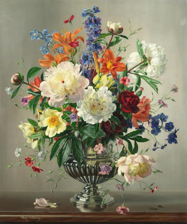 Натюрморт с летними цветами. Альберт Уильямс