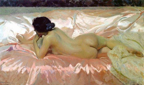 Обнаженная, 1902. Хоакин Соролья (1863-1923), испанский художник