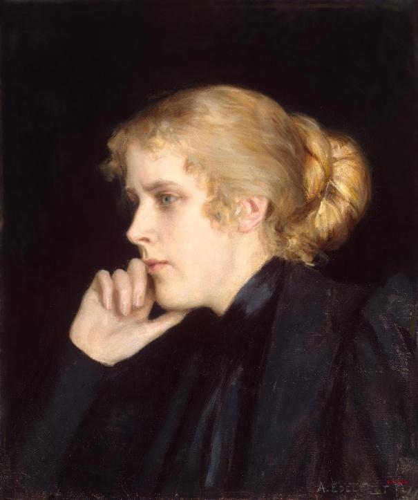 Портрет М.В. Дьяковской-Гейрот, 1896. Альберт Эдельфельт. Холст, масло. 50x41 см