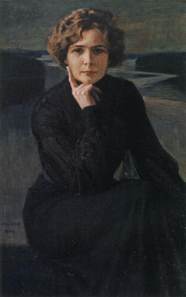 Портрет актрисы Элли Гран-Ниски, 1903. Альберт Эдельфельт