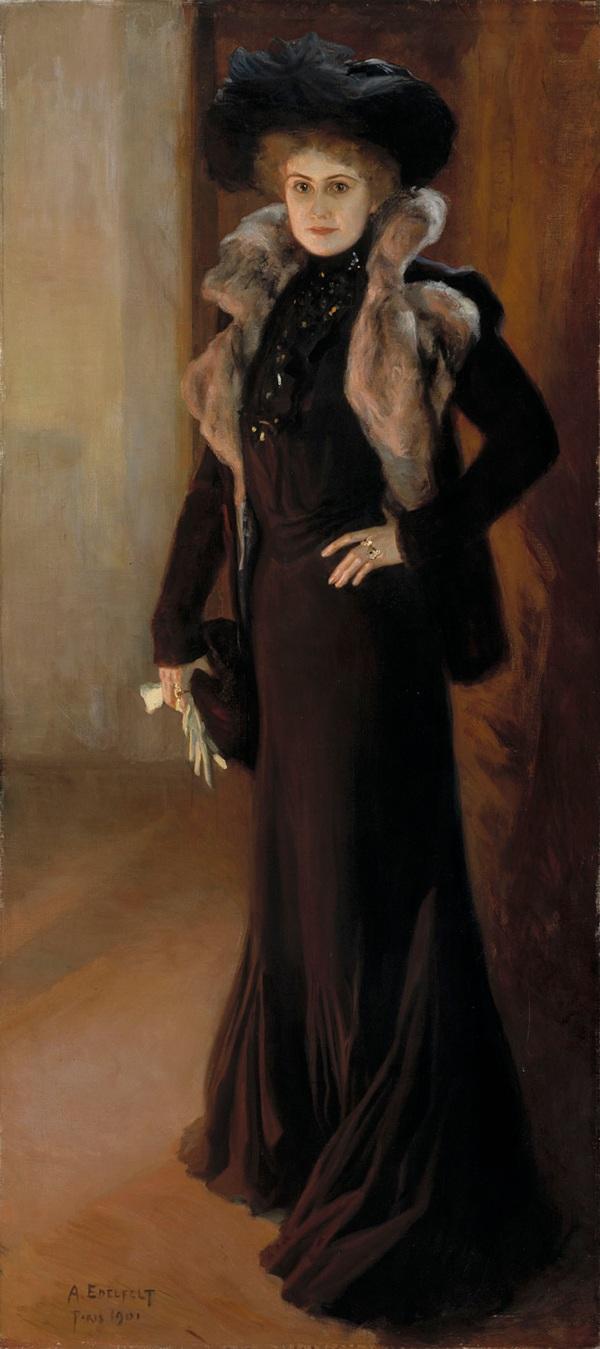 Портрет оперной певицы Айно Акте, 1901. Альберт Эдельфельт