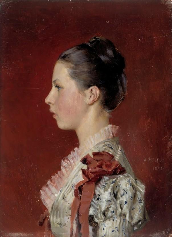 Портрет сестры художника Энни Эдельфельт, 1883. Альберт Эдельфельт (1854-1905), финский художник