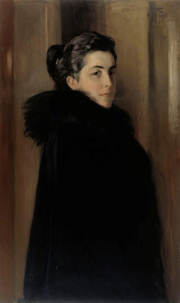 т жены художника Эллан Эдельфельт, 1896. Альберт Эдельфельт (1854-1905), финский художник