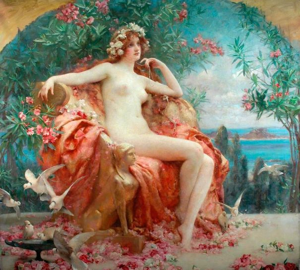 Розы юности, 1895. Холст, масло. Генриэтта Рэй.