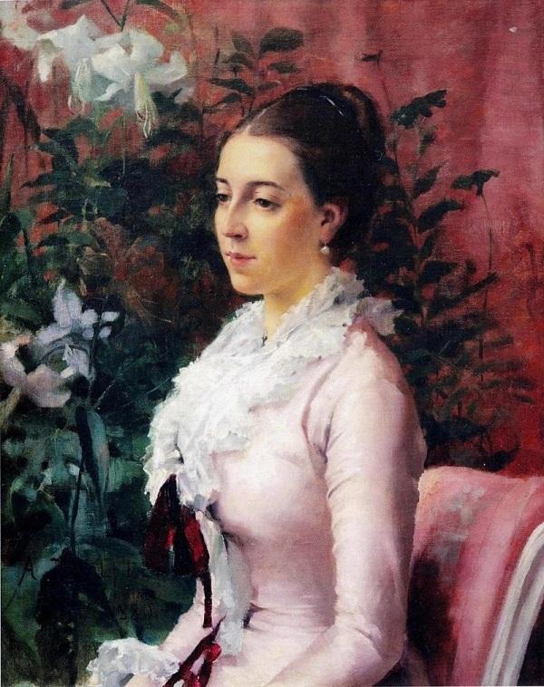 Софи Манзи, 1880, короткое время была невестой художника. Альберт Эдельфельт (1854-1905), финский художник.