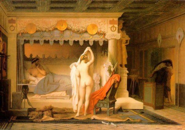 Царь Кандавл показывает свою красавицу-супругу Гигесу. Жан-Леон Жером (фр., 1824-1904). Музей искусств Понсе, Пуэрто-Рико