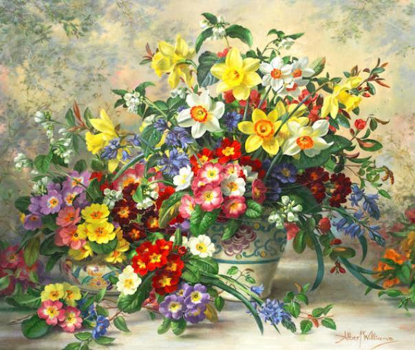 Цветочный натюрморт. Альберт Уильямс
