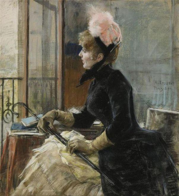 U-okna-Parizh-1887-Albert-Edelfelt
