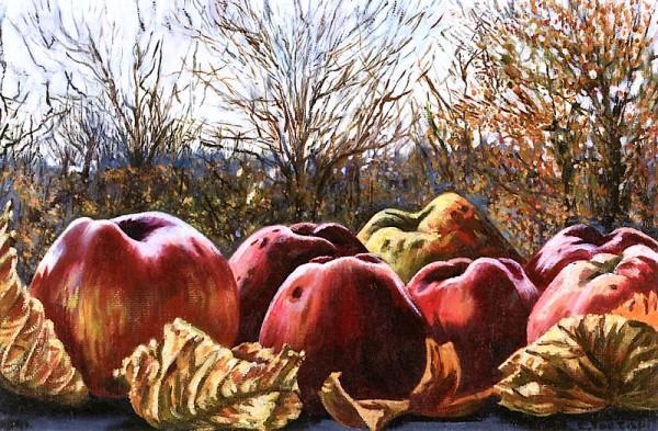 Осенний фрукт. Чарли Тороп (1891-1955), нидерландская художница и литограф.