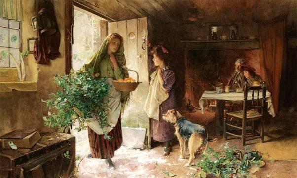 Канун Рождества, 1901. Карлтон Альфред Смит (1853-1946), английский художник