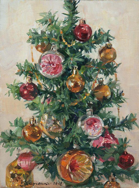 Новогодняя ёлка. Виктория Харченко, р.1978, Россия