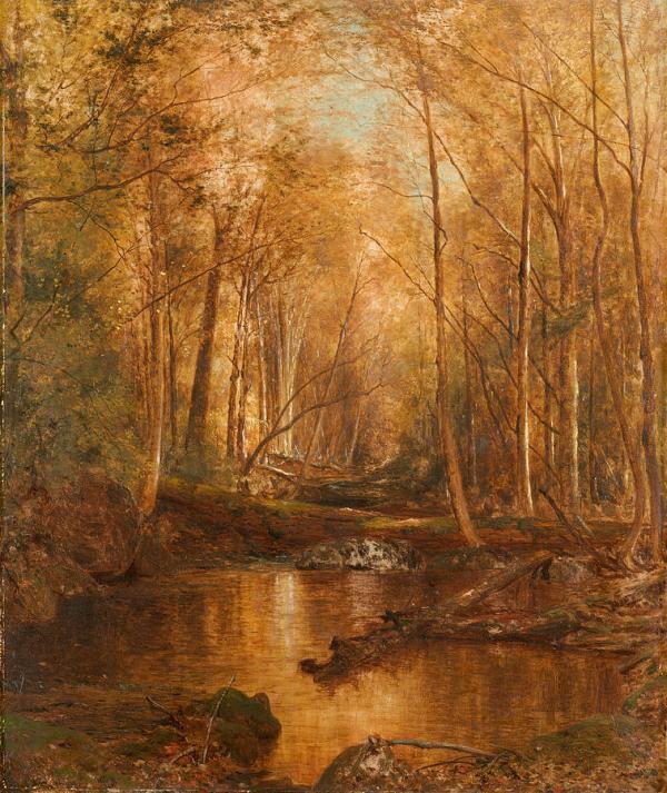 Осень в Катскиллах, 1873. Джервис Макэнти (1828-1891), американский художник
