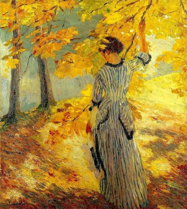Осеннее солнце. Эдвард Кьюкель (1875-1954), художник американского происхождения, который жил и работал в Германии.