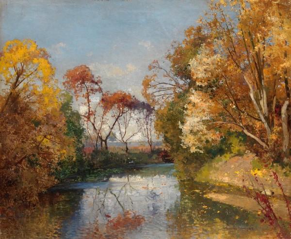Осенний пейзаж Андрей Николаевич Шильдер (1861-1919), русский художник-пейзажист