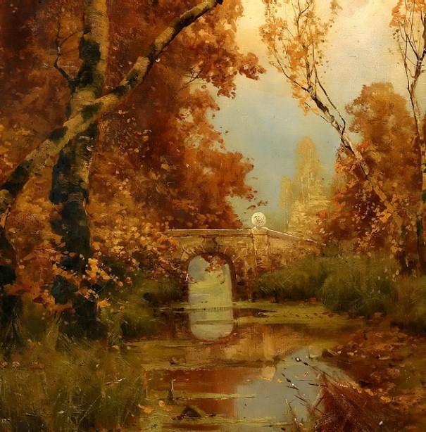 Осенний пейзаж. Юлий Юлиевич Клевер (1850-1924), русский художник.