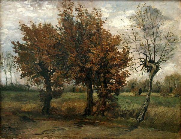 Осенний пейзаж с четырьмя деревьями, 1885. Винсент Ван Гог (1853-1890), нидерландский художник-постимпрессионист