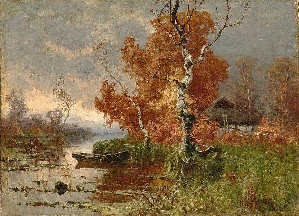 Осенний вечер. Клевер Юлий Юльевич (1850-1924), русский художник