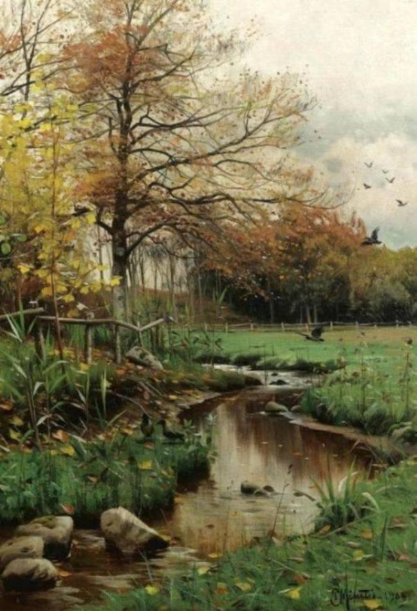 Осенние листья. Петер Мёрк Мёнстед (1859-1941), датский художник