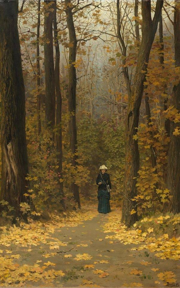 Прогулка в лесу, 1883. Василий Дмитриевич Поленов (1844 - 1927)