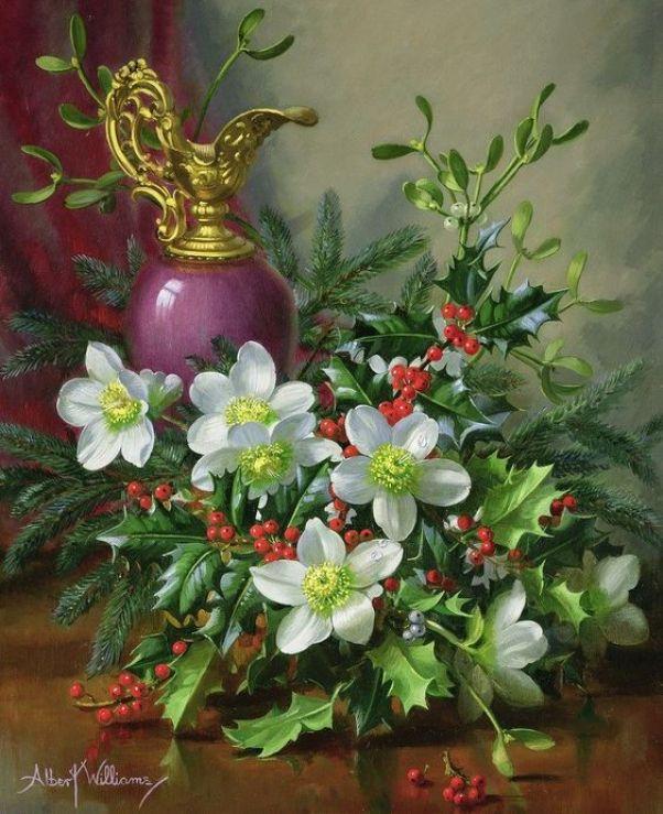 Рождественский букет. Альберт Вильямс (Albert Williams, 1922-2010), английский художник