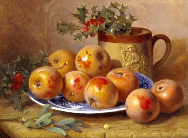 Рождественский натюрморт. Элоиза Гарриет Стэннард (1829-1915), английская художница, специализировавшаяся на натюрмортах.