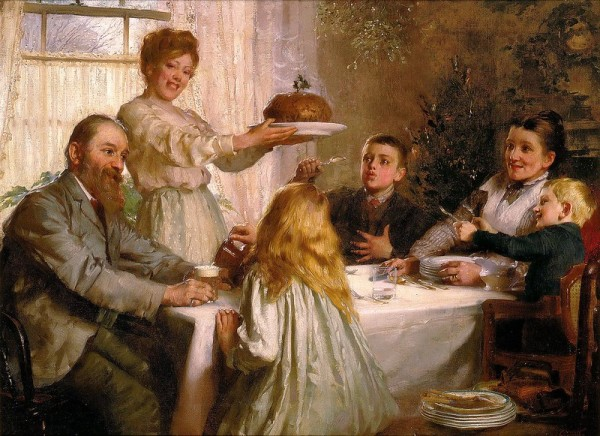 Рождественский пирог. Джозеф Кларк (Joseph Clark, 1834-1926), английский художник