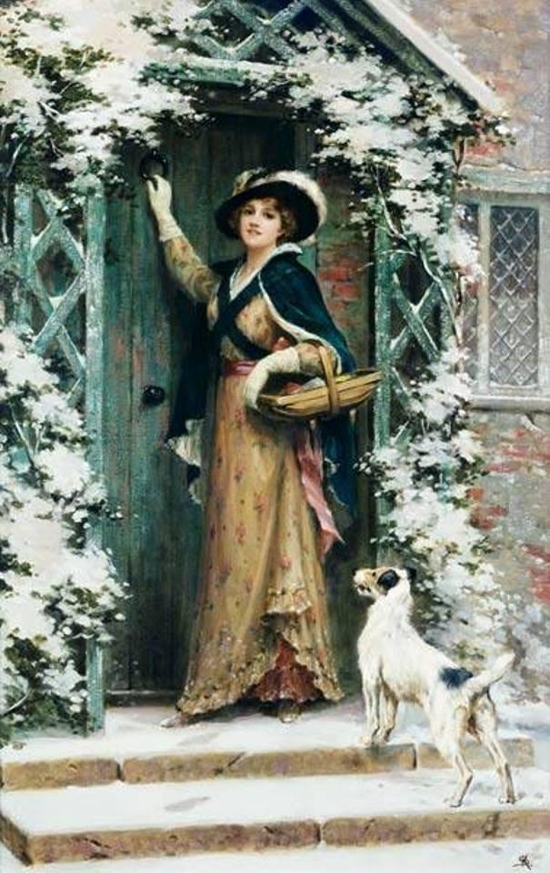 Рождественское настроение. Джордж Шеридан Ноулз (1863-1931), английский художник