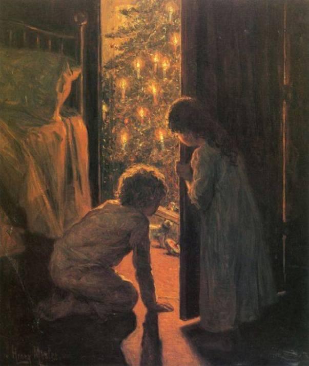 Рождественское утро, 1916. Генри Мослер, американский художник