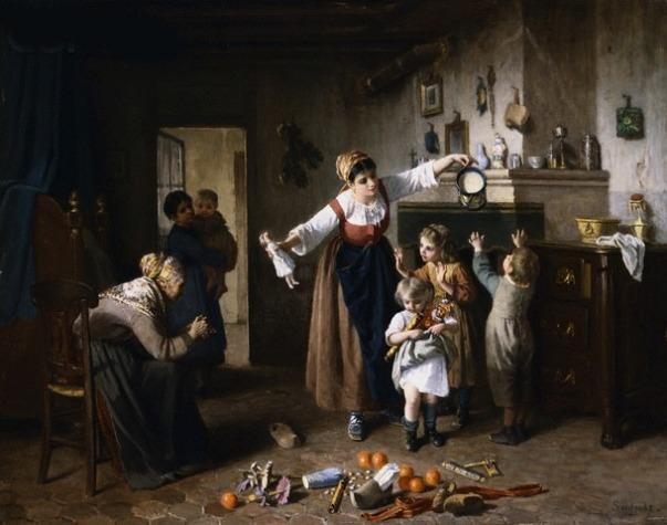 Рождественское утро. Paul Seignac (1826-1904), французский художник