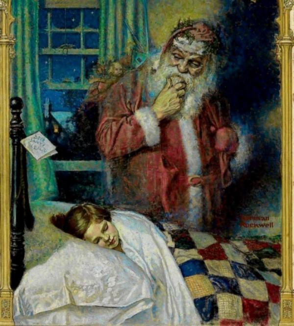Санта Клаус, 1921. Норман Роквелл (1894-1978), культовый американский художник XX века, на иллюстрациях которого выросло не одно поколение детей.