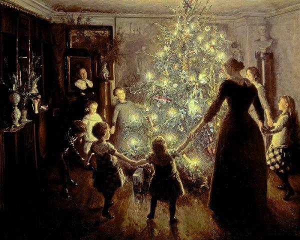 Счастливое Рождество, 1891. Вигго Юхансен, датский художник
