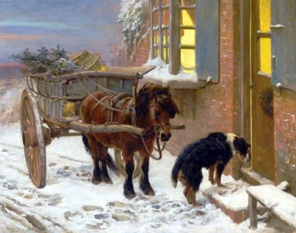 Сочельник. Холст, масло. Нобль, Джон Сарджент (1848-1896), английский художник