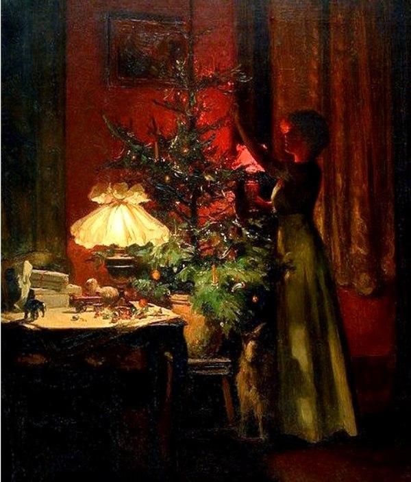 Украшение елки. Марсель Ридер (1862-1942), французский художник