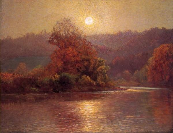 На исходе осеннего дня. Джон Оттис Адамс (англ. John Ottis Adams; 1851-1927), американский художник-импрессионист, член общества художников Hoosier Group штата Индиана.