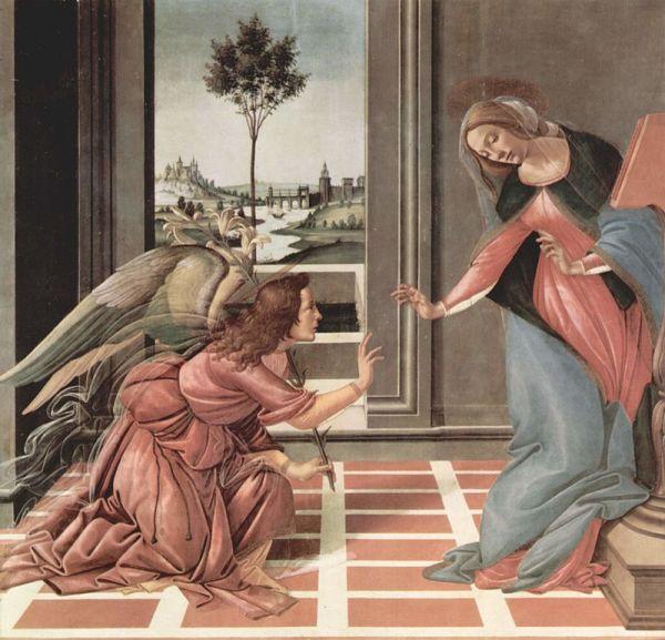 Благовещение, 1489—1490. Сандро Боттичелли. годы. Уффици, Флоренция