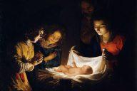 Поклонение Младенцу, около 1620, Уффици. Геррит ван Хонтхорст (1590-1656), нидерландский художник Золотого века