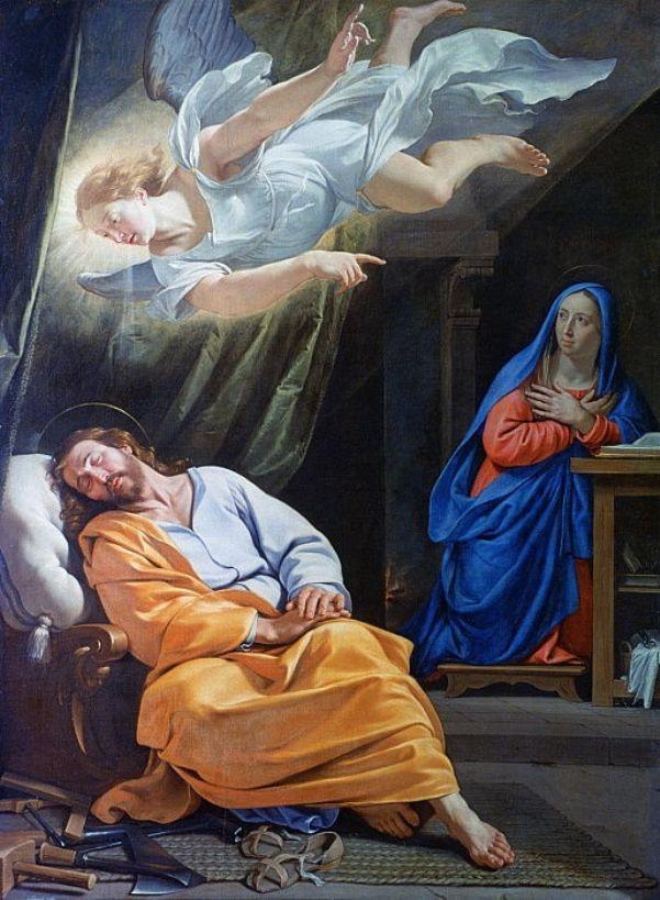 Сон Святого Иосифа, 1636. Филипп де Шампань (1602-1674), французский художник эпохи барокко.