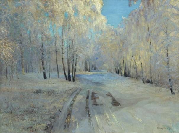 Иней. Василий Николаевич Бакшеев (1862-1958), российский, советский художник-живописец, педагог.
