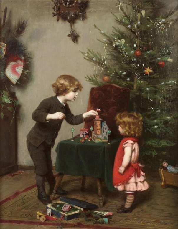 Рождество, 1889. Феликс Эрлих (1866–1931), немецкий художник