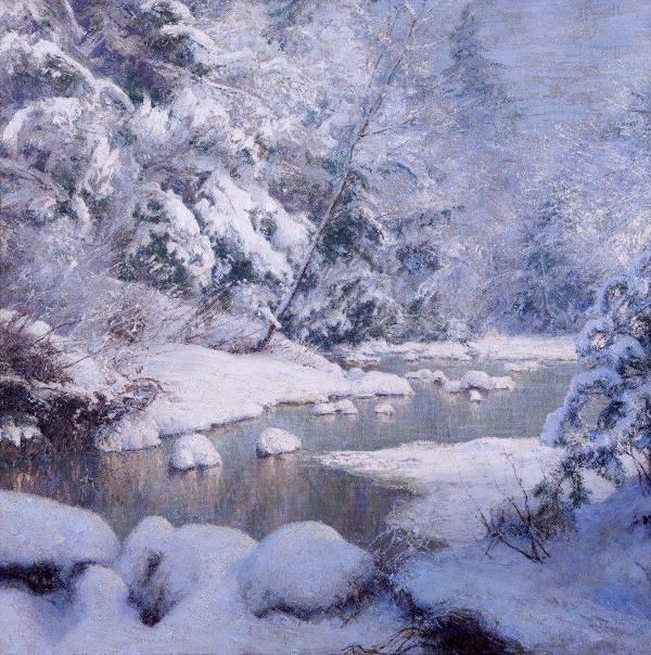 Снежное безмолвие. Уолтер Лаунт Палмер (1854-1932), американский художник-импрессионист
