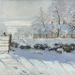 Сорока (1868-69). Клод Моне (1840-1926), французский живописец