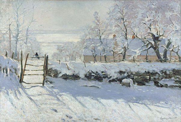 Сорока (1868-69). Клод Моне (1840-1926), французский живописец,