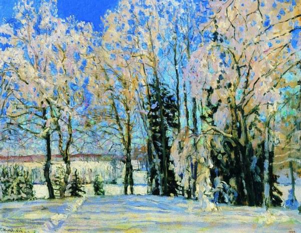 Свежий снег, 1912. Станислав Юлианович Жуковский (1873-1944), русский художник польского происхождения.