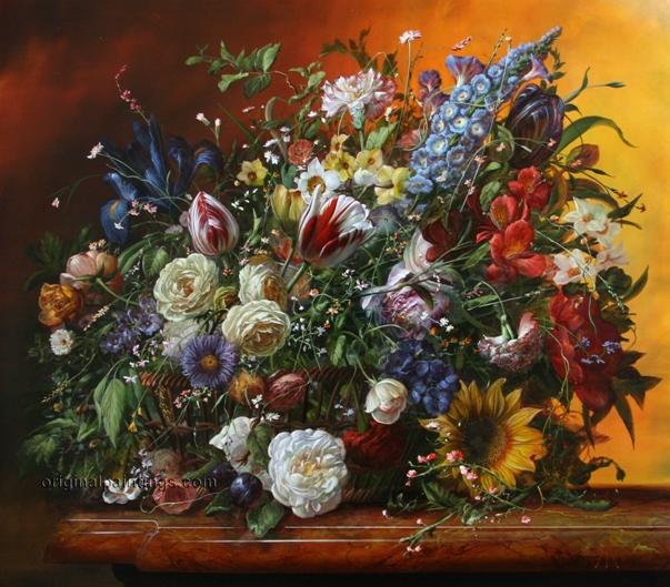 Цветочное величие Дьюла Шишка/Шиска, р. 1958, венгерский художник