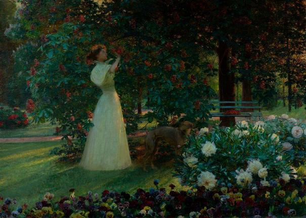 Майский вечер, 1897. Йозеф Шуссер (1864-1941), чешский художник