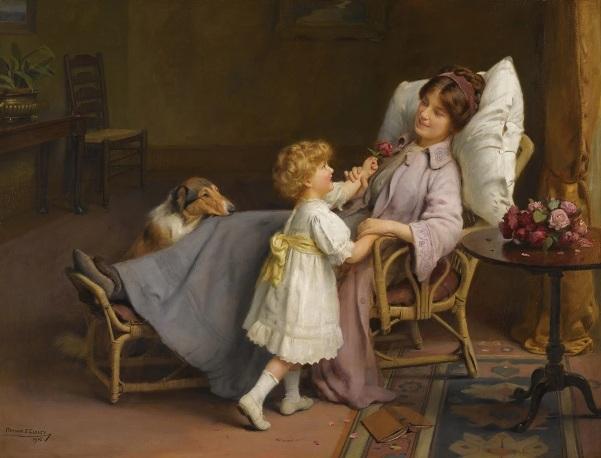 Мы идем на поправку. Артур Джон Элсли (1861–1952), британский художник