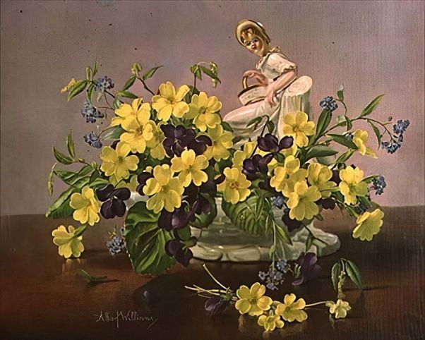 Первоцветы: вестники весны. Альберт Уильямс(1922-2010), английский художник
