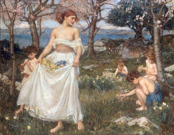Песнь весны. Джон Уильям Уотерхаус (1849-1917), английский художник